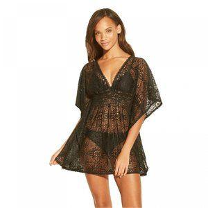 NWT Crochet Cover Up Dress Medium Black